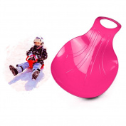 GlobalDeal Direct 50cm Durable Kid Snow Sled Sledge Ski Board Sit On Sleigh Glider Downhill Bum Slider