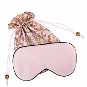 YANIBEST Sleep Eye Mask for Sleeping Adjustable Natural Silk Blindfold For Travel Women Men