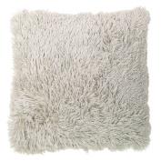 Living & Co Cushion Shaggy Light Grey 50cm x 50cm