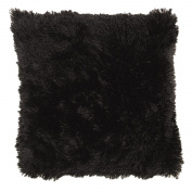 Living & Co Cushion Shaggy Black 50cm x 50cm