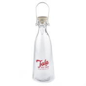 Vintage glass bottle 1 litre by Tala - red