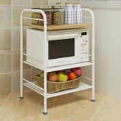Anna Kitchen Shelves Kitchen microwave oven shelf bracket accommodating racks 3 layer easy storage rack