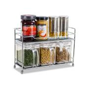 SHELVES Stainless Steel Kitchen Rack 2 Floor Floor Style Seasoning Bottle Finishing Shelves
