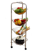 Anna Kitchen Shelves Kitchen vegetable racks landing wheel creative mobile shelf storage baskets net basket