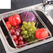 Stainless steel dish rack sink drain The dishes in the kitchen