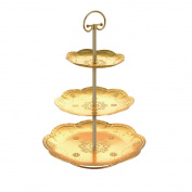 New Gold Three-layer Multi-functional Fruit Basket Fruit Plate