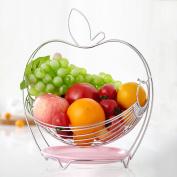 Apple Shape Stainless Steel Drain Fruit Basket Fruit Plate Household Shelves