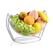 Semi - circular Stainless Steel Drain Fruit basket Fruit Plate Household Shelves