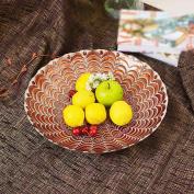 Modern creative living room glass fruit plate, hotel, club decoration fruit plate, home fruit plate