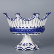 Creative home fruit basket, ceramic blue and white mountain fruit plate,