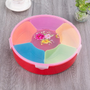 Creative home plastic candy box, dried fruit plate, living room, sub-grid, sealed, covered with fruit pots, snacks, fruit boxes, fruit plate