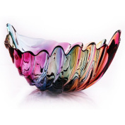 Lead-free glass fruit plate, creative stained glass leaf fruit, fashion fruit plate, fruit basket, fruit pot
