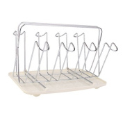 COFCO Stainless Steel Mug Holder Rack Stwith with Plastic Tray for 8 Mugs