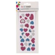 Kids' Art & Craft Glitter Stickers Assorted