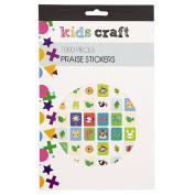 Kids' Art & Craft Praise Sticker Book Assorted