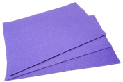 10 x A4 Felt Sheets - Purple - Arts & Craft Fabric Material