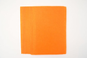 10 x A4 Felt Sheets - Orange - Arts & Craft Fabric Material