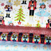 CHRISTMAS FABRIC - Nutcracker Dolls Christmas - Bundle - BLEFB042 - 4 Fat Quarters each 50 cm x 55 cm - 100% Cotton - by Blend Fabrics
