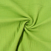Dress Fabric Double Gauze Muslin Cloth Fabric Plain Green