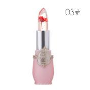 Xshuai 6 Colour New Fashion Waterproof Long-Lasting Moisturiser Beauty Bright Flower Crystal Jelly Lipstick Magic Temperature Change Colour Lip Balm Makeup Sexy Lip Gloss for Women