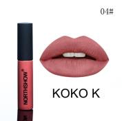 Xshuai NORTHSHOW Fashion Waterproof Long-Lasting Moisturiser Velvet Matte Liquid Lipstick Cosmetic Sexy Lip Gloss Kit for Women