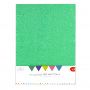 Simply Creative A4 Pack-Multi, Glitter Felt, Multicolour, 30 x 22 x 2 cm