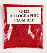 (GH22 - Holographic Plum Red 10g) Cosmetic Glitter Glitter Eyes Glitter Tattoo Glitter Lips Face And Body Bath Bombs Soap