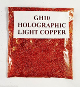 (GH11 - Holographic Light Copper 10g) Cosmetic Glitter Glitter Eyes Glitter Tattoo Glitter Lips Face And Body Bath Bombs Soap
