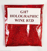 (GH7 - Holographic Wine Red 10g) Cosmetic Glitter Glitter Eyes Glitter Tattoo Glitter Lips Face And Body Bath Bombs Soap