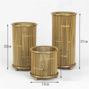Creative 3 round metal candlestick restaurant table decoration , gold