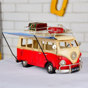 Retro iron bus car branding car model decoration gifts