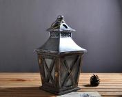 Retro resin lanterns desktop decoration cafe taillights pendant , grey