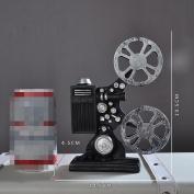 Retro Resin Home Nostalgic Projector Desktop Decoration - Black , 2