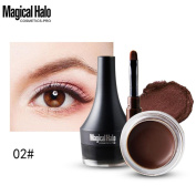 Xshuai Magical Halo Mini Eyeliner Gel Cream With Brush Makeup Cosmetic Waterproof Eye Liner