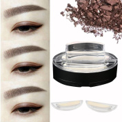 Xshuai New Waterproof Natural Eye Brow Stamp Powder Perfect Eyebrow Power Seal Nature Eye Brow Powder Delicate Shape for Beginners