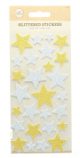 Self Adhesive Glittered Foam Stickers Arts & Craft Accessories-Stars