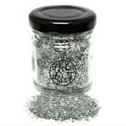 Cosmetic Gliltter 100% Biodegradable SILVER CHUNCKY MIX