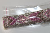 Ribbon Pearl Rhinestones Hotfix Bling Custom Design 12 cm x 3 cm