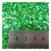 15g LARGE HOLOGRAPHIC GLITTER *4 SIZES *5 COLOURS * CRAFTS NAIL ART CARD MAKING (Green 0.2cm