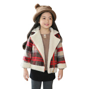 For 3-7 Years Old Kids Jackets, Voberry Baby Infant Girls Boys Autumn Winter Woollen Plaid Coat Jacket Thick Parka Coats Jacket Warm Clothes Outwears Overcoats