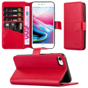 Apple iPhone 7 Case - iPhone 7 Leather Case Premium PU Leather Wallet Case Magnetic Closure Flip Cover with Card Slots Stand View Protective Phone Cover For Apple iPhone 7