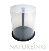 5 x 100 Empty CD DVD Cakebox Storage Tub Plastic Case for DVD CD Bluray Discs Spindle cake box
