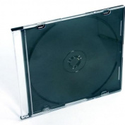 CrazyGadget® 5 x Empty CD Case Jewel Ultra Slim 5mm - Black/Clear Categorise, Protect & Store Your CD's Safely