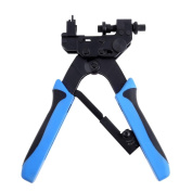 Coaxial Cable Stripper,Heavy Duty Coaxial Cable Compression Crimp Tool for RG59 RG6-F BNC RCA