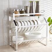 SHELVES 3-layer Stainless Steel Seasoning Bottle Rack / Dish Shelf / Kitchen Storage Rack