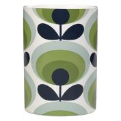 Orla Kiely Utensils Pot 70s Oval Flower, Green