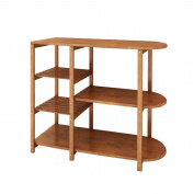 SHELVES Kitchen Floor Bamboo Solid Wood Multi - Store Storage Shelves Microwave Oven Shelves