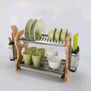 SHELVES 2 Layers Of Stainless Steel Kitchen Supplies Storage Racks Chopsticks Dish Shelf