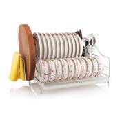 SHELVES 2 Layer Stainless Steel Bowl Shelf Kitchen Tableware Drying Rack