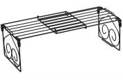 stable Shelf, Multifunction Incorporated Shoe rack Disc shelf kitchen Folding frame shrink Two colours black White Simple and elegant